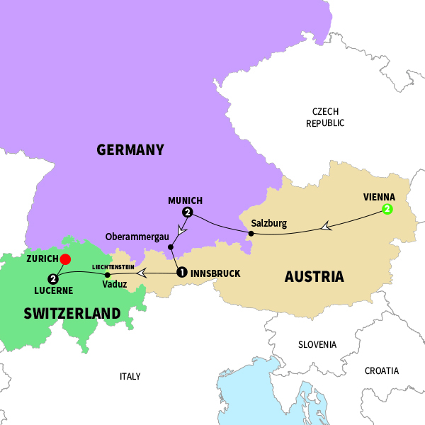 Map Of Germany Austria And Switzerland.Tour Germany Austria Switzerland Map Quotes Of The Day